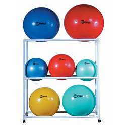 Ball Storage Cart Abs Mobile Holds 9 Fitness, CHSFPR1