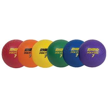 "Playground Ball Set Of 6 Rhino 7"" CHSPX7SET"