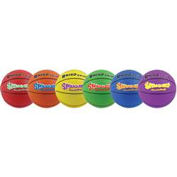 "Basketball Set/6 Rhino Skin 8"" Super Squeeze Asst, CHSSQBBSET"