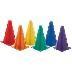 Hi Visibility Plastic Cone Set Fluorescent By Champion Sports