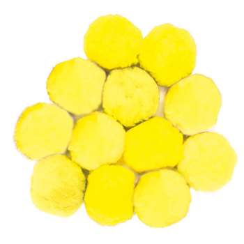 Colossal Fluff Balls 90 Mm Yellow By Chenille Kraft