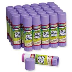 Glue Sticks 30 Purple 1.41 Oz By Chenille Kraft