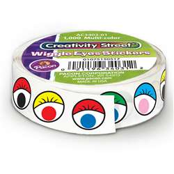 Wiggle Eyes Stickers On A Roll Multi-Color By Chenille Kraft