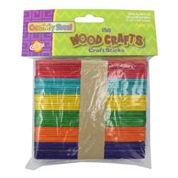 Craft Sticks Assorted Colors By Chenille Kraft