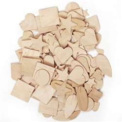 Wooden Shapes 1000 Pieces By Chenille Kraft
