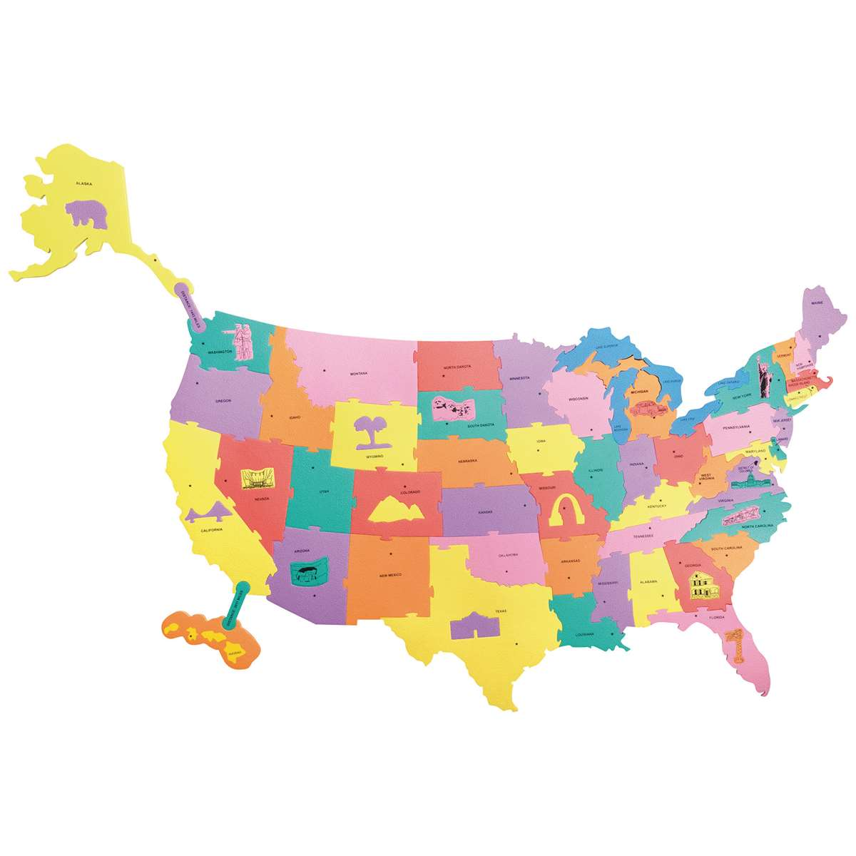 Giant Wonderfoam Us Puzzle Map By Chenille Kraft Social Studies - Map-of-us-puzzle
