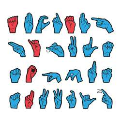 Wonderfoam Magnetic Sign Language Letters By Chenille Kraft
