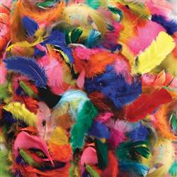 Feathers Hot Colors By Chenille Kraft