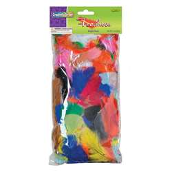 Feathers Bright Hues 1 Oz Bag By Chenille Kraft