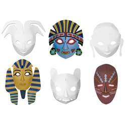 Multi Cultural Dimensional Masks 24Pk By Chenille Kraft