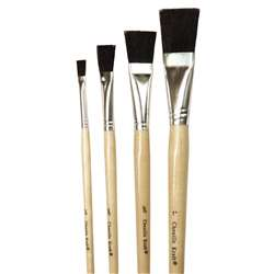 Black Bristle Easel Brush 1 Each 1/4 1/2 3/4 By Chenille Kraft