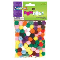 Pom Pons Assorted 1/2 Inch By Chenille Kraft