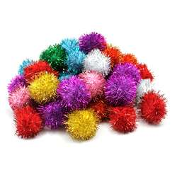 Glitter Pom Pons Bag Of 40 1 By Chenille Kraft