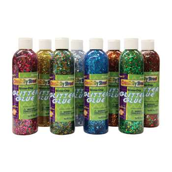 Glitter Chip Glue 8Pk Assortment By Chenille Kraft