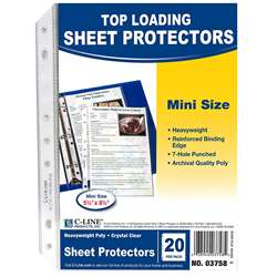 Mini Size Top Loading Clear Poly Sheet Protectors By C-Line