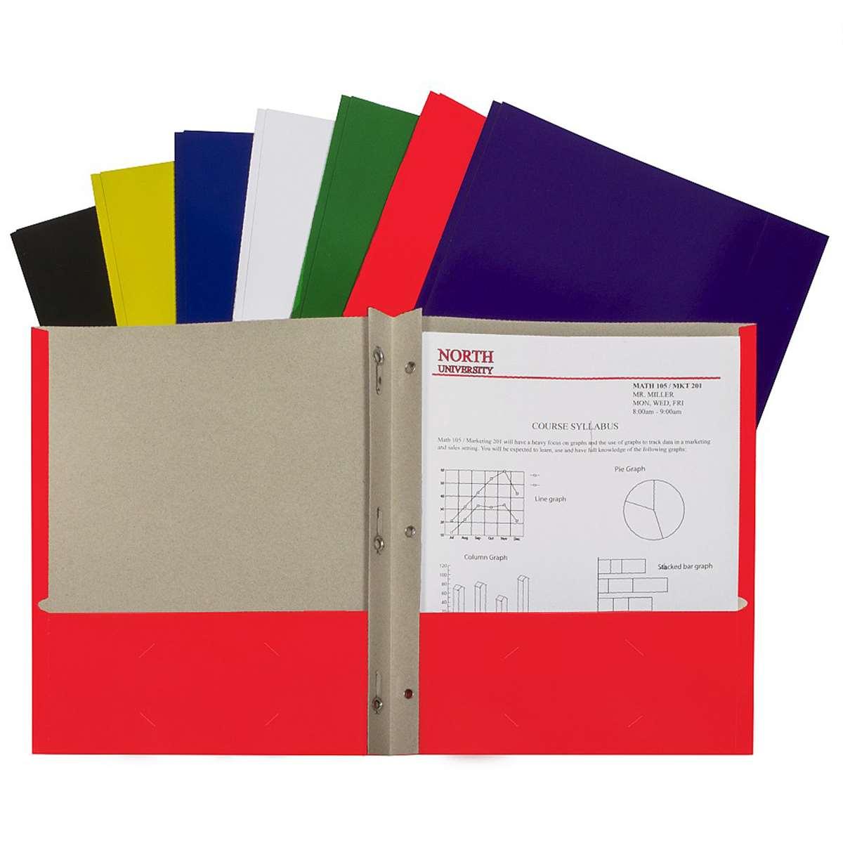 C Line Portfolio W/ Prongs Asst CLI05320 C-Line Folders