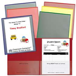 Asst 6Pk School To Home Folders Classroom Connecto, CLI32010
