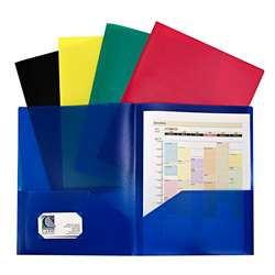 Assorted Two Pocket Poly Portfolios Without Prongs, CLI32950