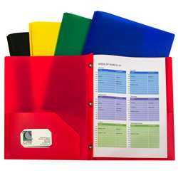 Assorted Two Pocket Poly Portfolios With Prongs Pa, CLI32960