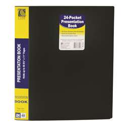 C Line Bound 24 Pocket Sheet Protector Presentation Book By C-Line