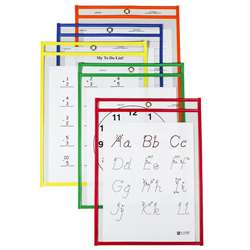 Reusable Dry Erase Pockets 25/Box Assorted Primary 6 X 9 By C-Line