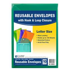 Xl Reusable Envelopes 10 Pack With Hook & Loop Clo, CLI58030