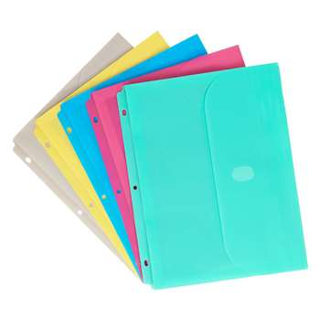 Binder Pocket W/ Velcro Closure Assorted Colors By C-Line