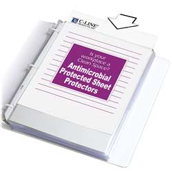 Heavyweight Sheet Protectors 100/Bx With Antimicro, CLI62033