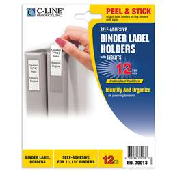 "Binder Labels 3/4X2 1/2"" Self Adhesive For 1 1/2I, CLI70013"