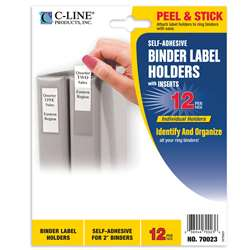"Binder Labels 1 3/4X2 3/4"" Self Adhesive For 2"" , CLI70023"