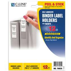 "Binder Labels 1 3/4X3 1/4"" Self Adhesive For 2-3I, CLI70025"