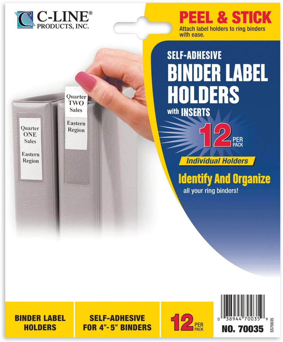 binder labels 2 1 4x3in self adhesive for 4 5in binders cli70035 c