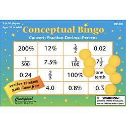 Conceptual Bingo Convert Fraction Decimal Percent By Conceptual Math Media