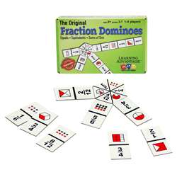Fraction Dominoes Game By Wiebe Carlson Associates