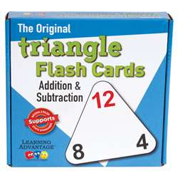 Triangle Flashcards Add/Sub By Wiebe Carlson Associates