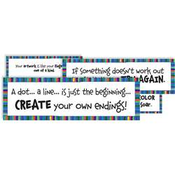 Art Motivation Display Cards By Crystal Productions