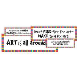 Why We Teach Art Display Cards By Crystal Productions