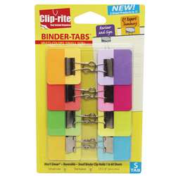 Binder Tabs 8Pk Assorted Colors With X Small Clips By Clip-Rite