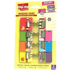 Binder Tabs 8Pk Spring Collection With X Small Clips By Clip-Rite
