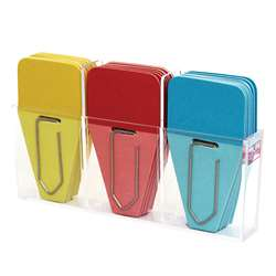 Solid Clip Tabs 24Pk Red Blue Yellow, CRT108