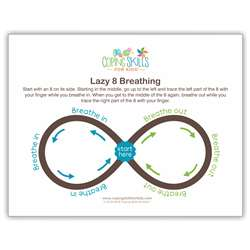 Lazy Eight Deep Breathing Poster, CSKOPLA11