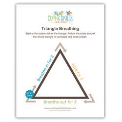 Triangle Deep Breathing Poster, CSKOPTR11