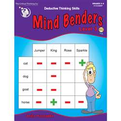 Mind Benders Book 3 By Critical Thinking Press