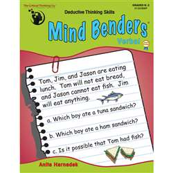 Mind Benders Warm Up Gr K-2 By Critical Thinking Press