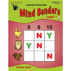 Mind Benders Beginning Book 1 Gr Pk-K By Critical Thinking Press