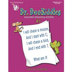 Dr. Dooriddles Book A1 Grade K-3 By Critical Thinking Press