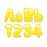 "Painted Palette Yellow 4"" Designer Letters, CTP0282"