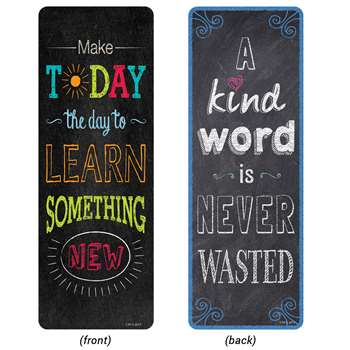 Chalk It Up Quotes Bookmarks Motivational, CTP0445