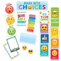 Emoji Fun Behavior Chart Mini Bulletin Board Set, CTP0596