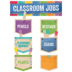 Classroom Jobs Mini Bulletin Board Set Upcycle Sty, CTP0600